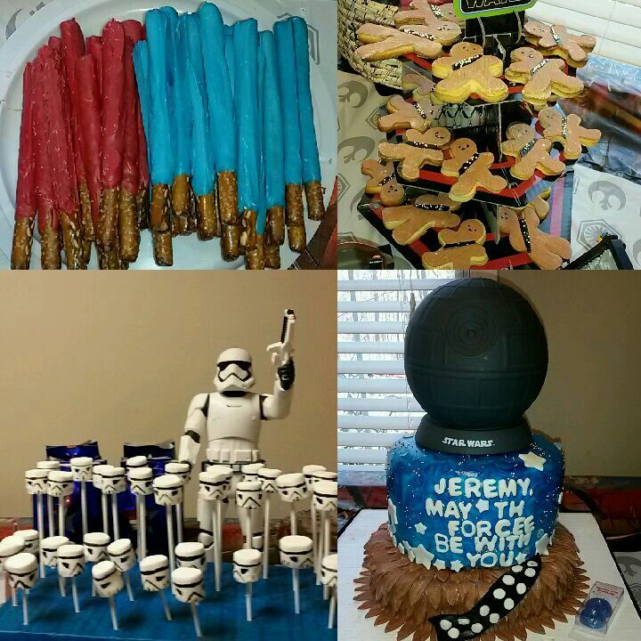 Star Wars Birthdays Boy Ideas Cake Light Saver Pretzels And Chewbaca Cookies Full Of Fun Gapoy Smile Party For 8