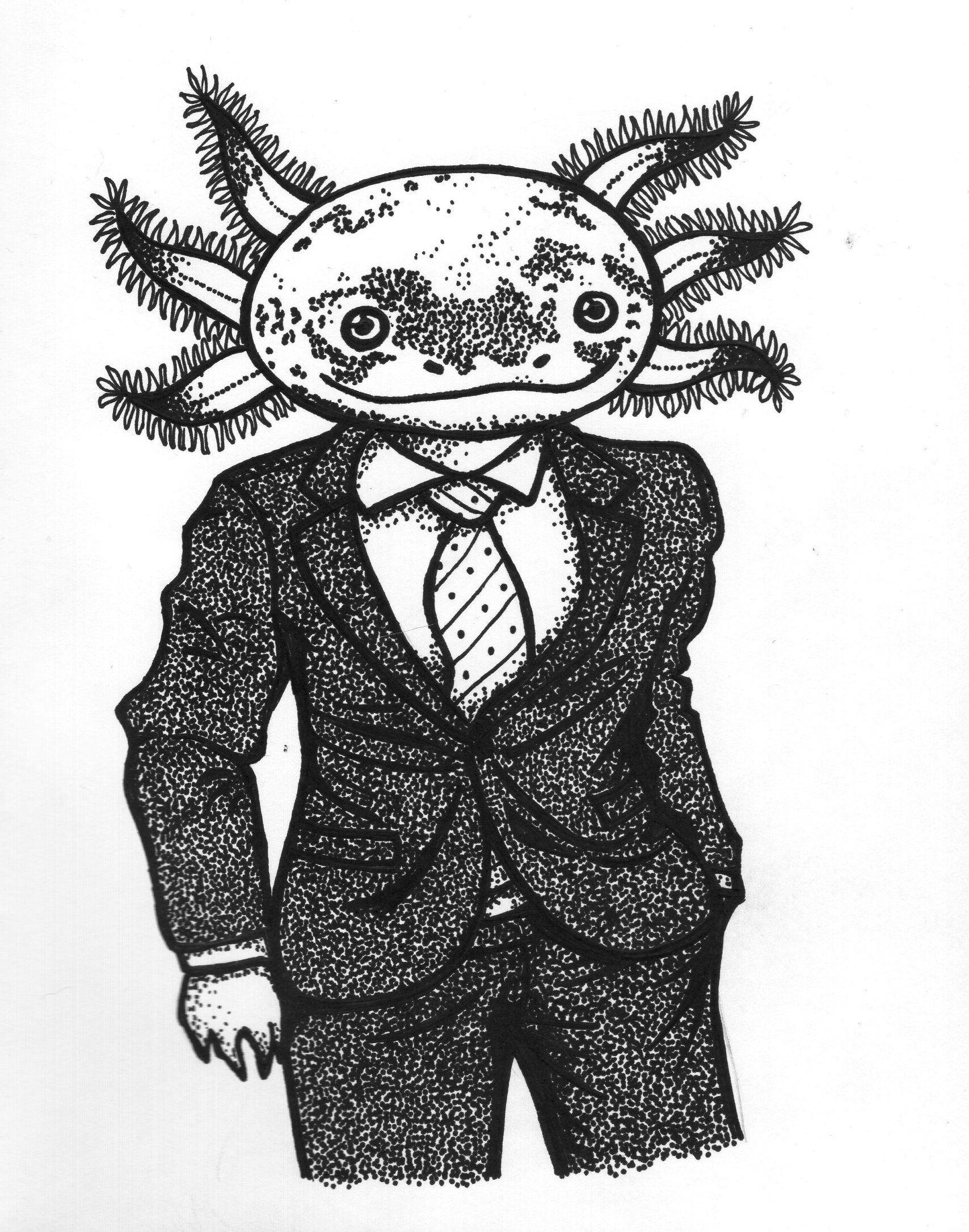 Axolotl Axolote | Dibujo | Pinterest | Dibujo