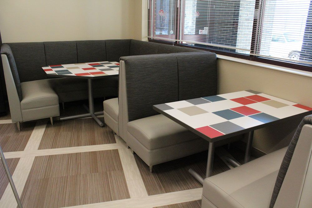 Heyl Royster, Peoria IL, Cafe, Furniture by Widmer Interiors