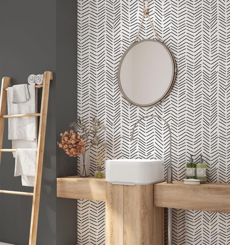 Minimalist Removable Wallpaper. Geometric Wallpaper