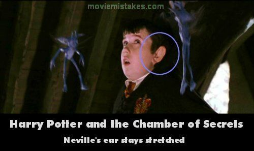 Harry Potter Cameraman : Movie mistakes harry potter and the chamber of secrets mistake