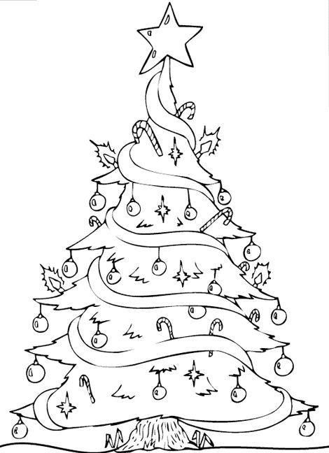 malvorlage weihnachten tannenbaum | ausmalbilder