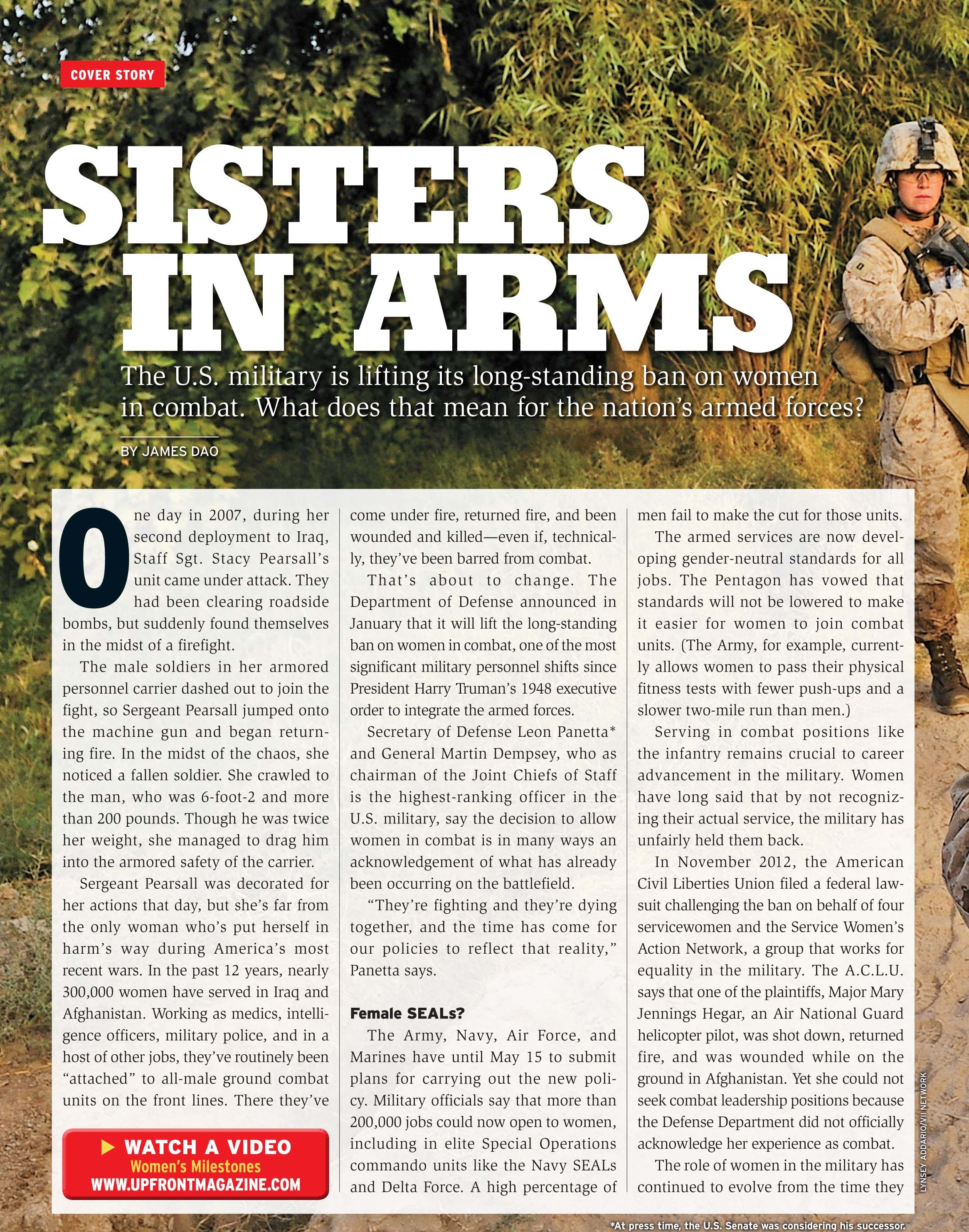 March 11 S Sisters In Arms Article In The New York