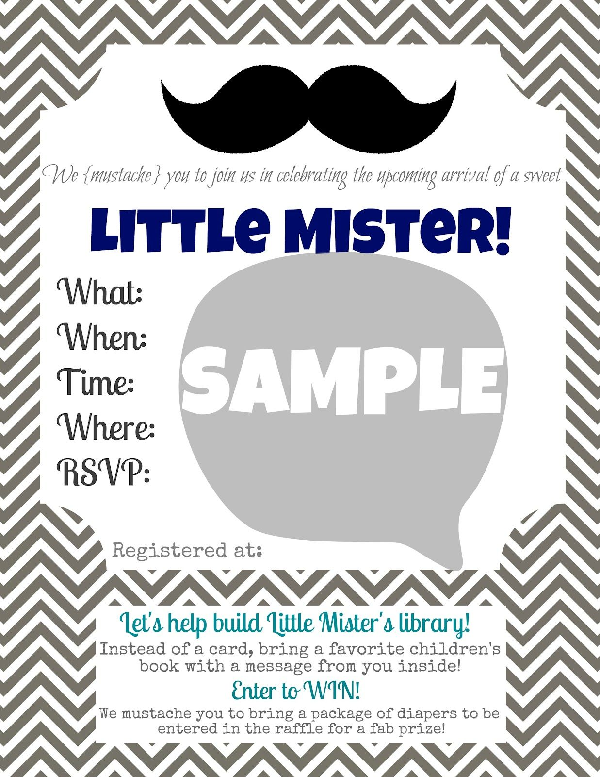 Little Mister Mustache Bash {party prints} | Mr mustache, Babyshower ...