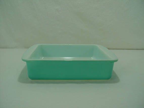 Turquoise Pyrex 222 Square Baking Dish Brownie Pan 8 Inch