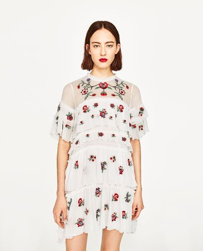 Image 2 Of Embroidered Mini Dress From Zara Cool Sites To See