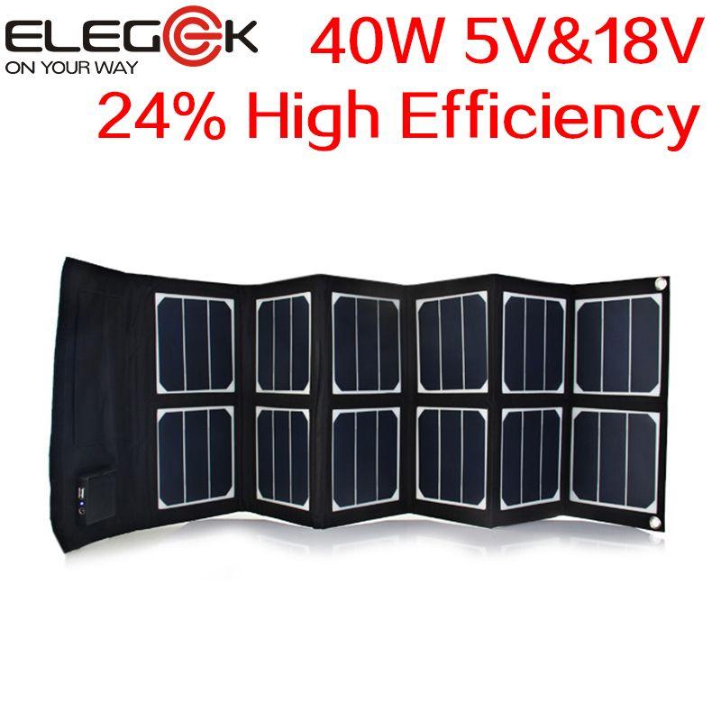 Elegeek 40w 5v 12v 18v Folding Solar Panel Portable Usb Dc Sunpower Panel High Efficiency Solar Panel Ch Solar Panel Charger Portable Solar Panels Solar Panels