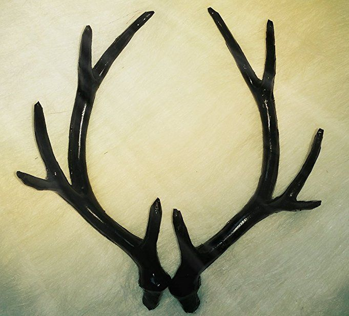 Amazon.com: Simulated 17cm Black Deer Antler Creative DIY Material For Home  Decor U0026