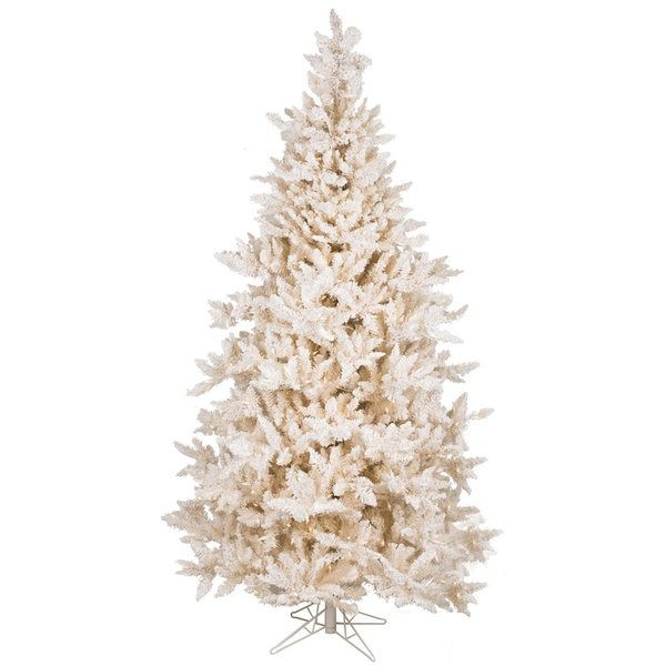 Vickerman Cream PVC 75-foot Flocked Vintage Fir Artificial