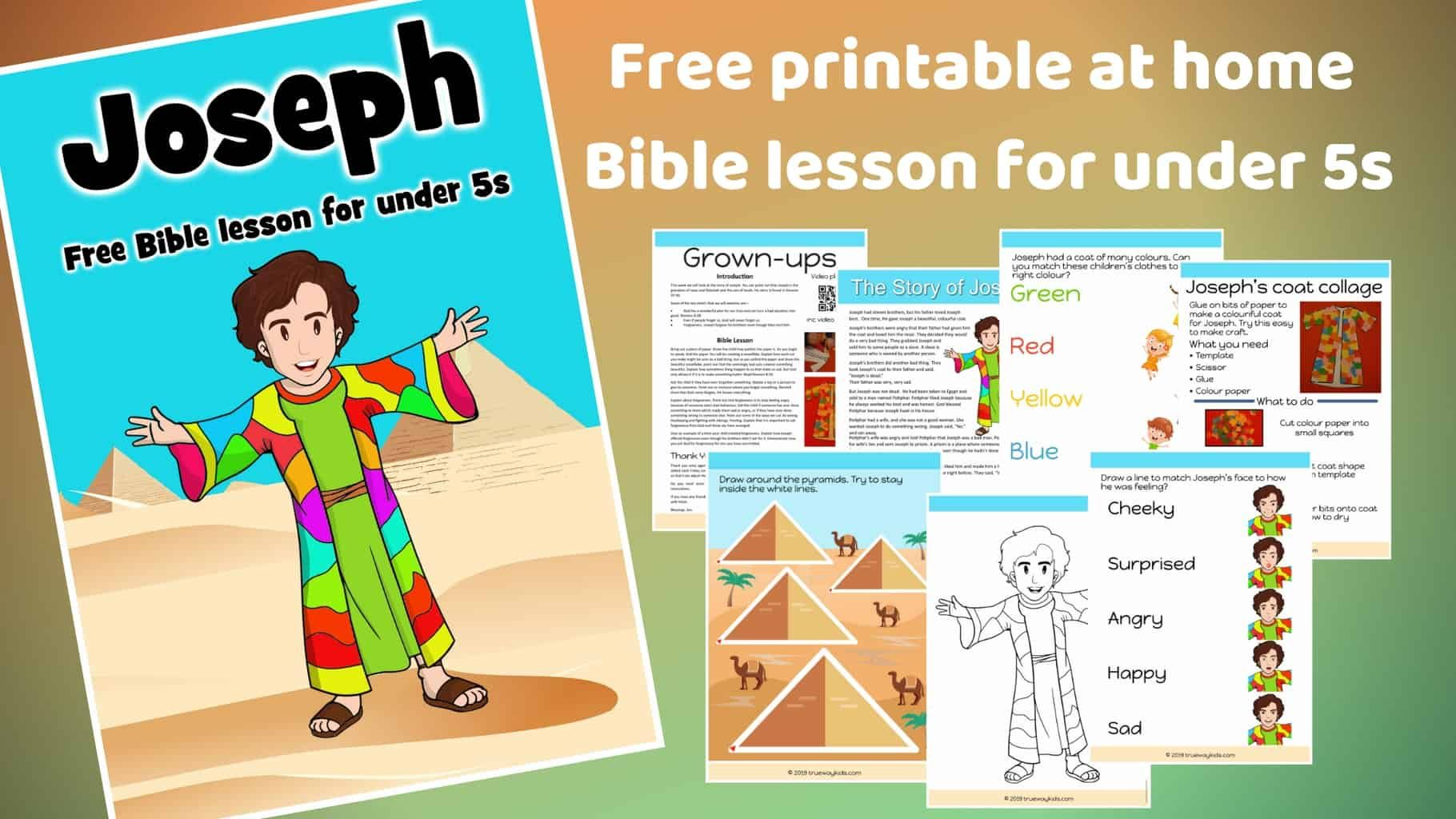 Joseph Preschool Bible Lesson Learn About How God Uses