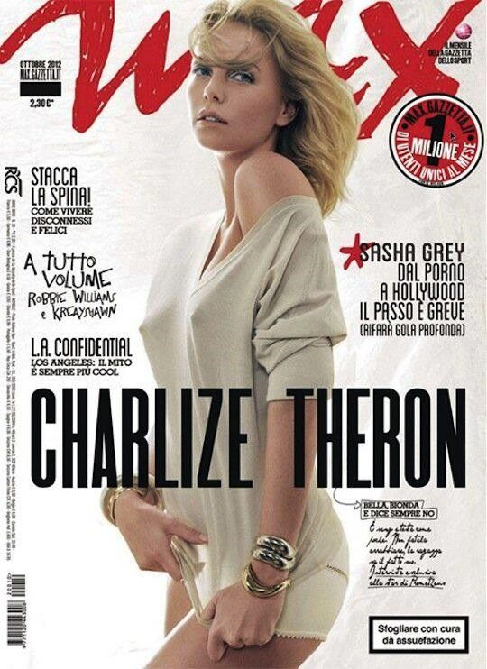 Charlize covers the October 2012 issue of Max, Italy.