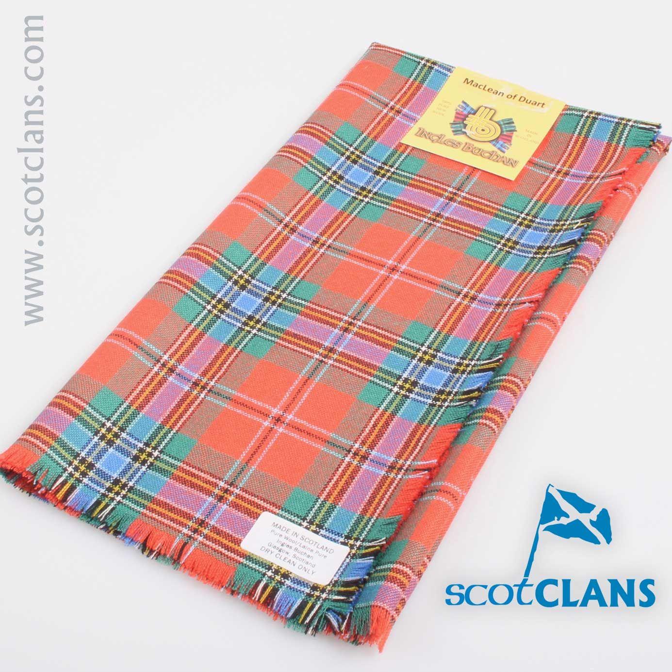 Mens Clan Tie Made in Scotland MacLean of Duart Ancient Tartan