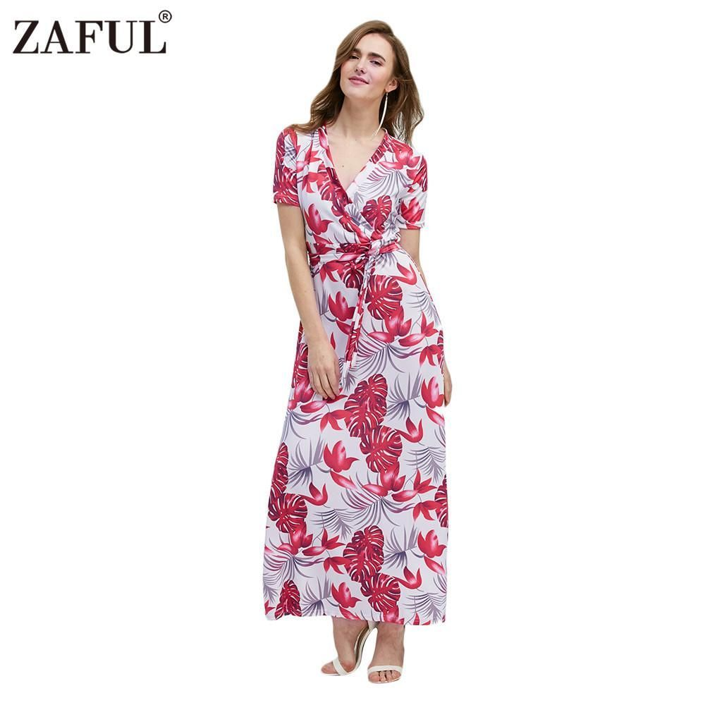 Zaful bohemian women dresses summer fashion print dress sexy short