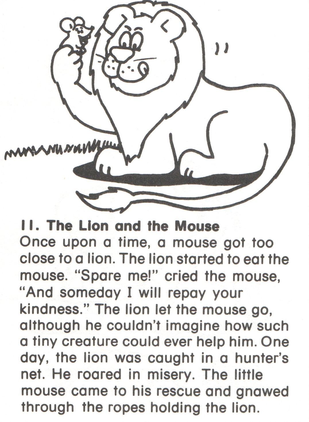 Fairy Tales English Stories For Kids Lion And The Mouse Simple Stories For Kids
