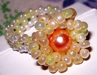 Beaded Flower Ring Pattern by Allegra