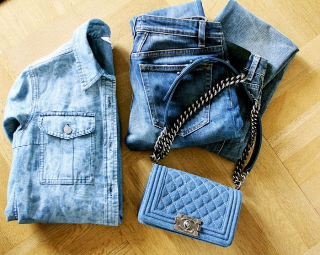 d9aa9630 chanel boy denim - amazing! | Fashion inspiration | Denim clutch ...