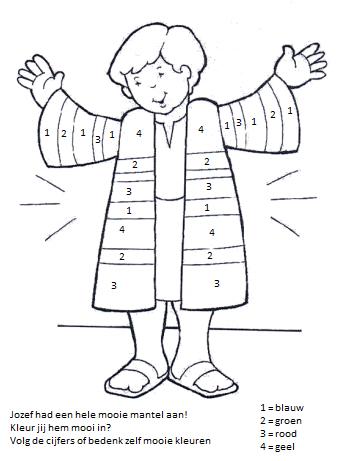 jozef s jas christelijke knutsels bijbel kleurplaten