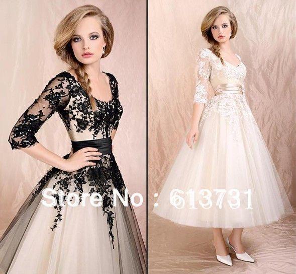 tea length wedding dresses for older brides | ... Bride-Wedding ...