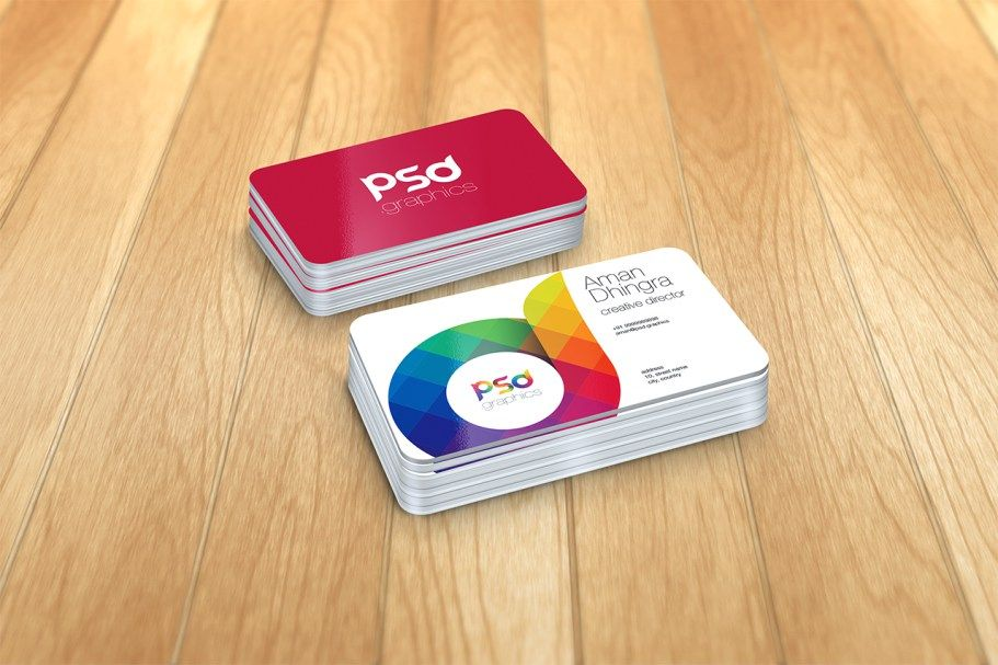 Rounded Corner Business Card Mockup Free Psd Graphics Psd Graphics Business Card Mock Up Business Cards Mockup Psd Free Business Card Mockup