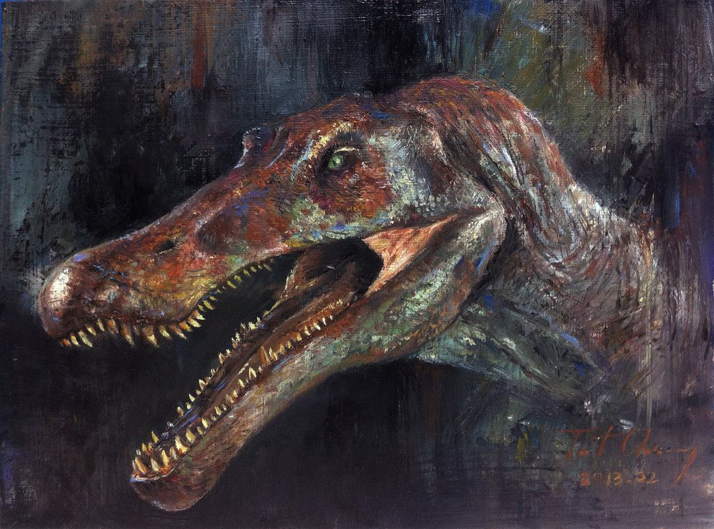 Study of JP3 Spinosaurus Head by cheungchungtat on