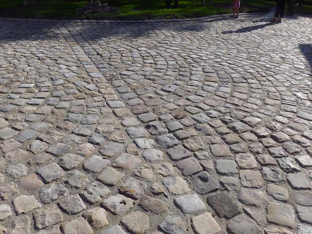 Pavés grès de Fontainebleau ; Format 15x15x15 ; Aménagement du0027une - pose de pave exterieur