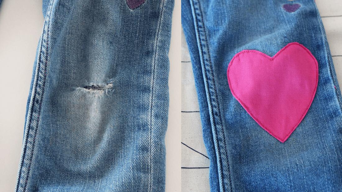 Jeans Am Knie Flicken | Flicken Selbst Machen | Family Management