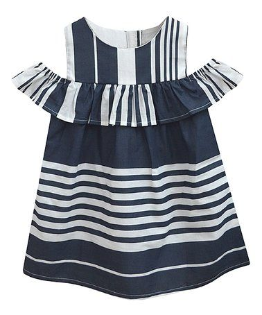 fa6980e085 Love this Navy & White Stripe Lucy Dress - Infant, Toddler & Girls on  #zulily! #zulilyfinds