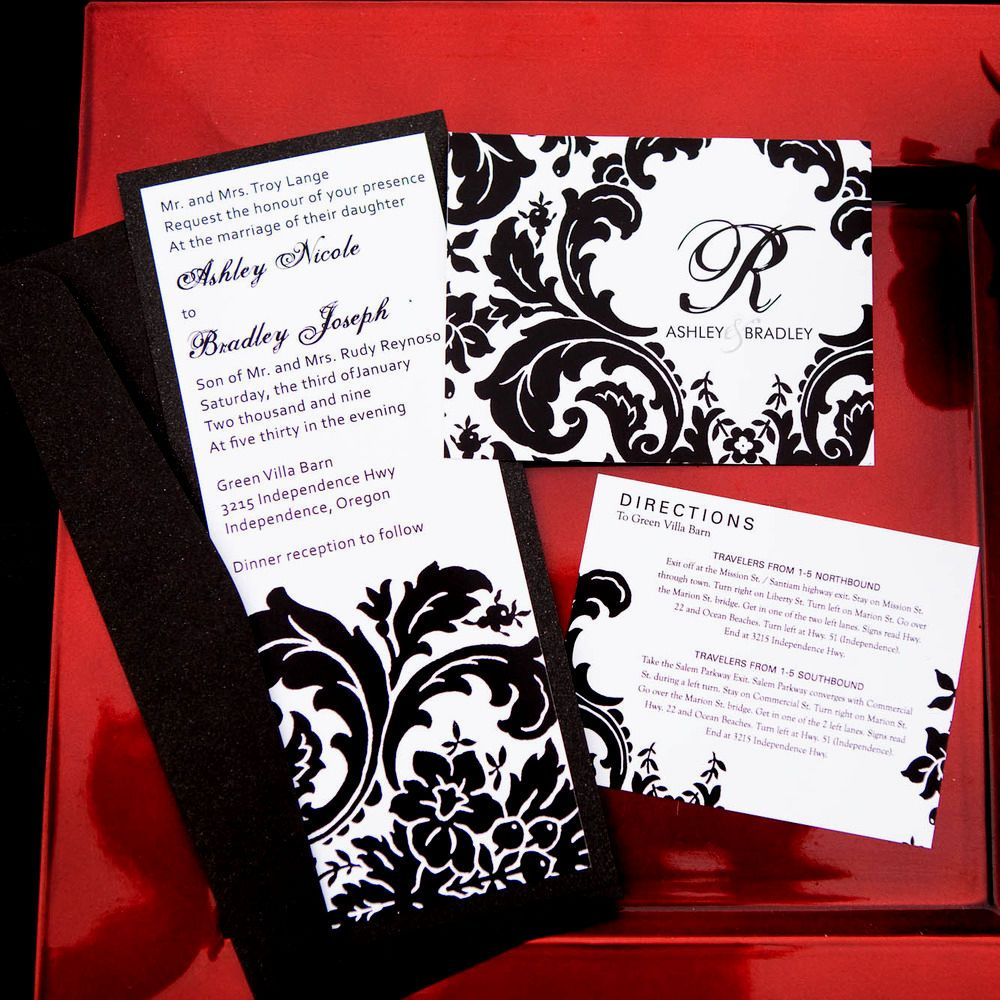 red and black wedding invitations- To tell the truth, planning a ...