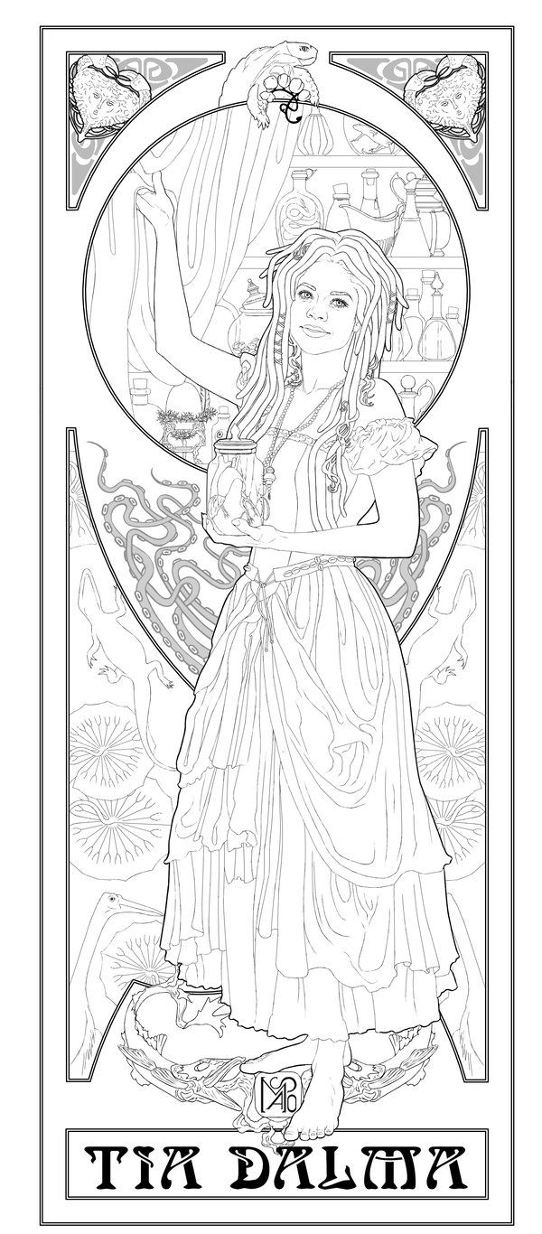Tia Dalma Lineart By Migrainesky On Deviantart Disney Coloring Pages Coloring Book Pages Coloring Books