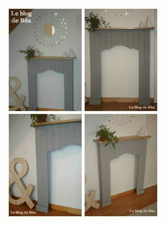 chimenea falsa chimeneas falsas pinterest madera chimenea falsa y chimeneas. Black Bedroom Furniture Sets. Home Design Ideas