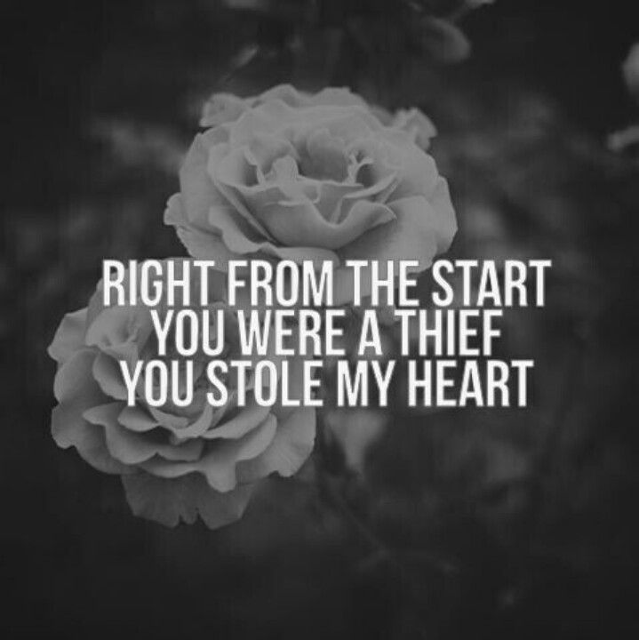Right From The Start You Were A Thief You Stole My Heart Pink