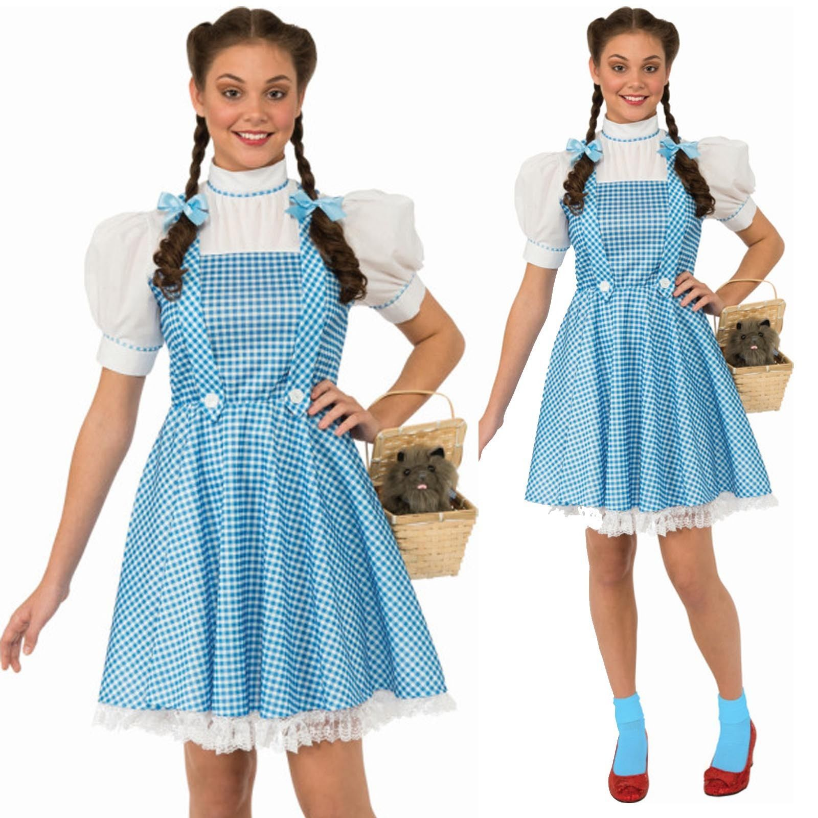 New Dorothy Costume Wizard of Oz Adult Licensed Fancy Dress Disney | eBay  sc 1 st  Pinterest & Dorothy deluxe costume adult | Costumes and Halloween costumes