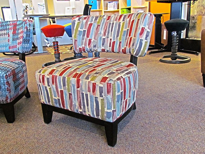 Accent chair in Clover 629 fabric