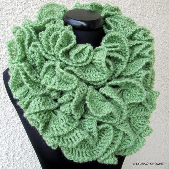 Crochet Scarf PATTERN, Ruffle Scarf Pattern, Long Scarf, DIY Crochet ...