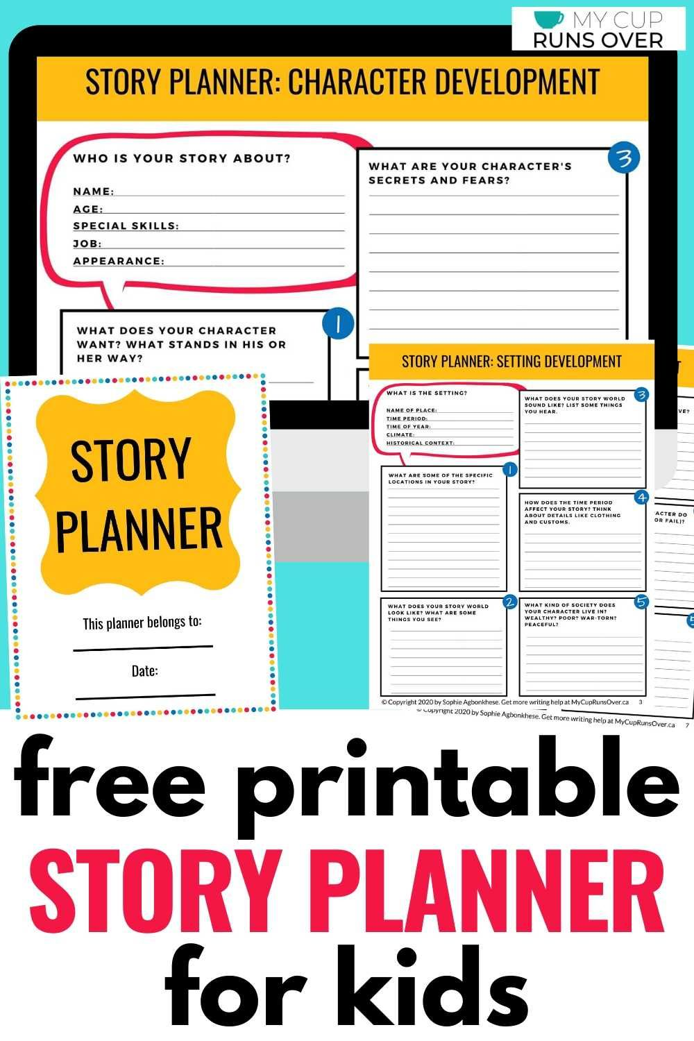 How To Plan A Short Story Free Story Planner Template For Kids Writing Lessons Creative Writing Activities Kids Planner
