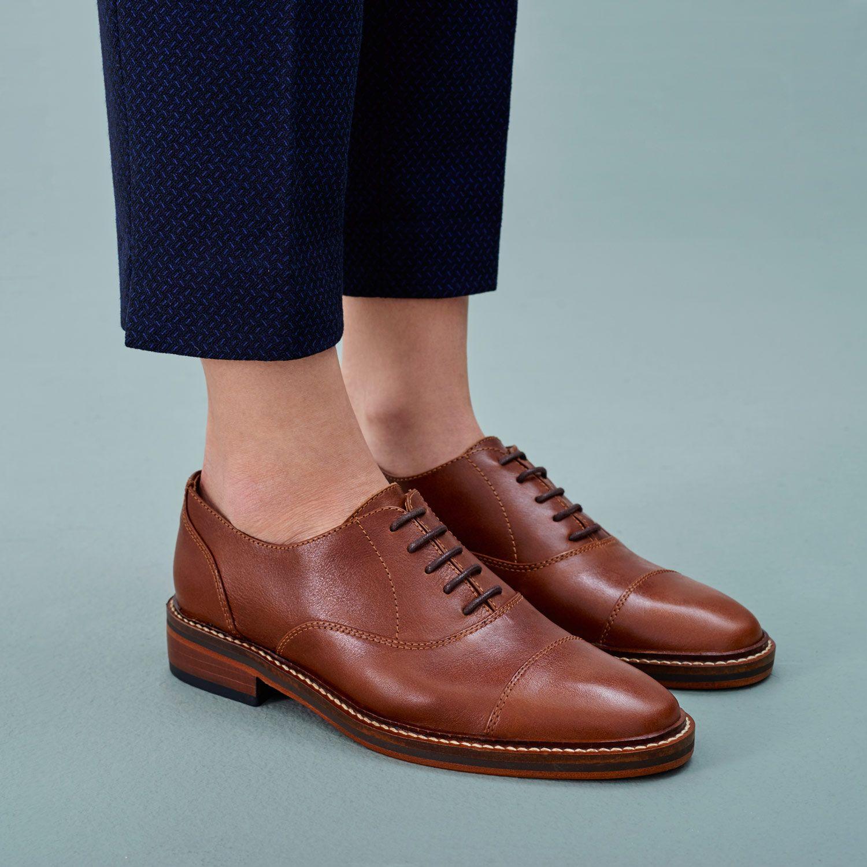 ab65ca1a75b91 Womens Fashion High Top Oxford Wing Cap Toe Boots Ladies Flat