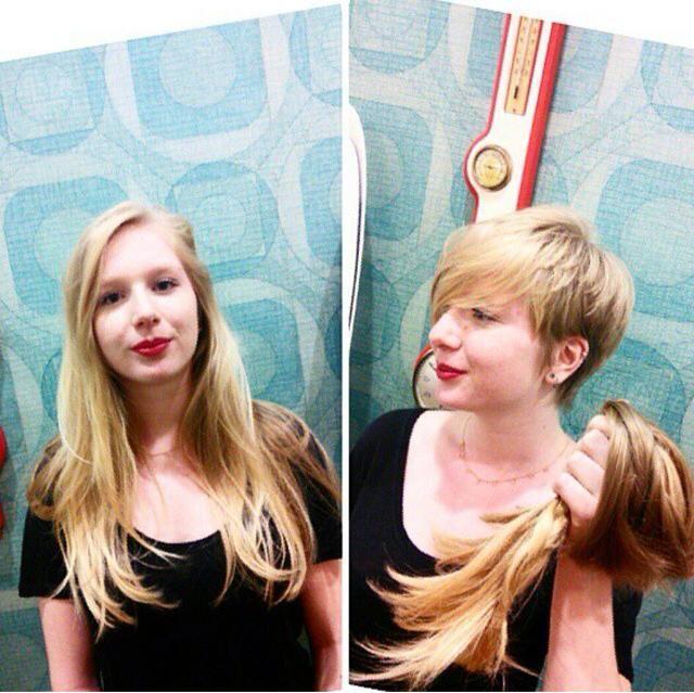 Vorher Nachher Bevor And After Lange Haare Abschneiden Haare