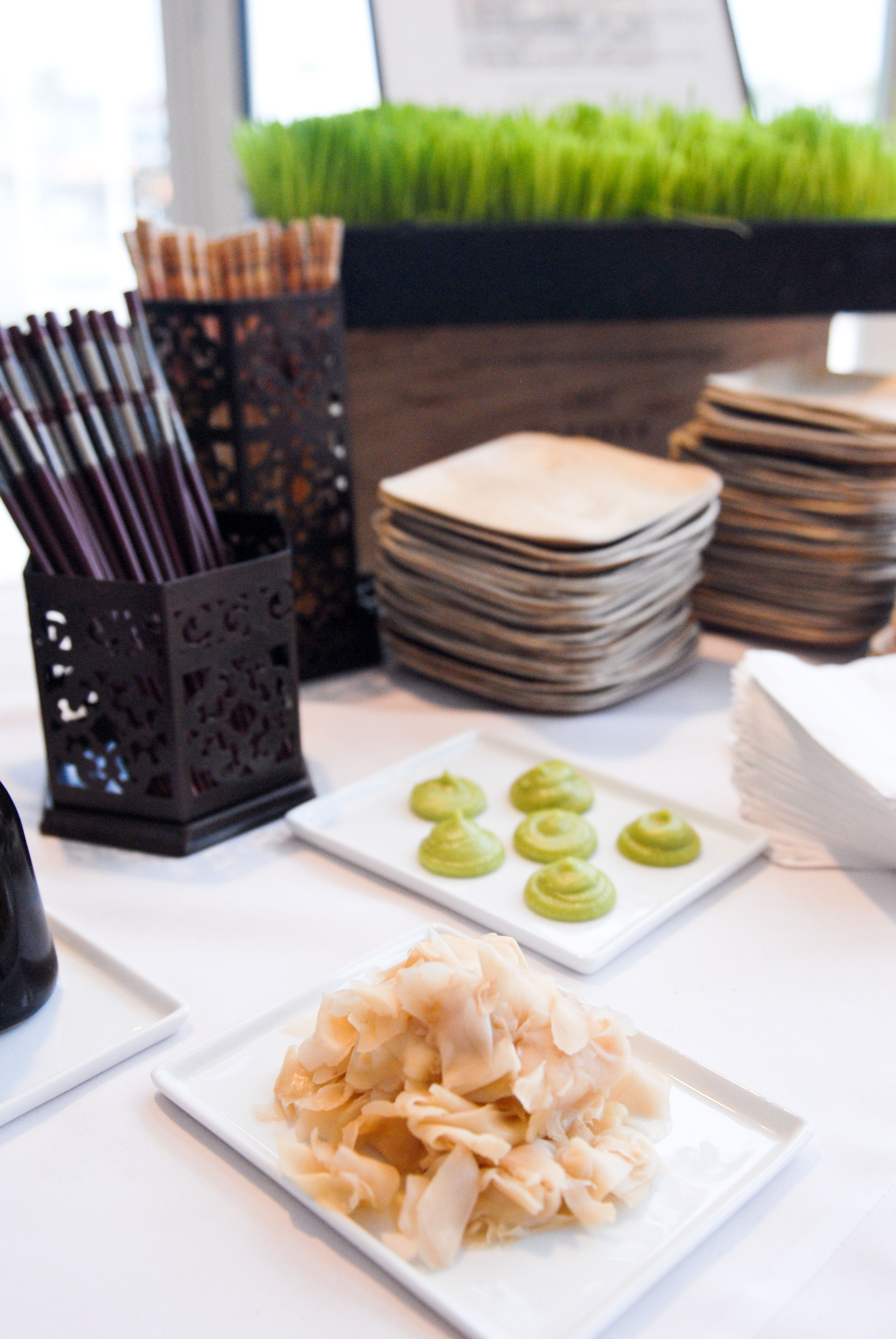 Wasabi And House Made Pickled Ginger Event Catering Premium Food Dessert Buffet