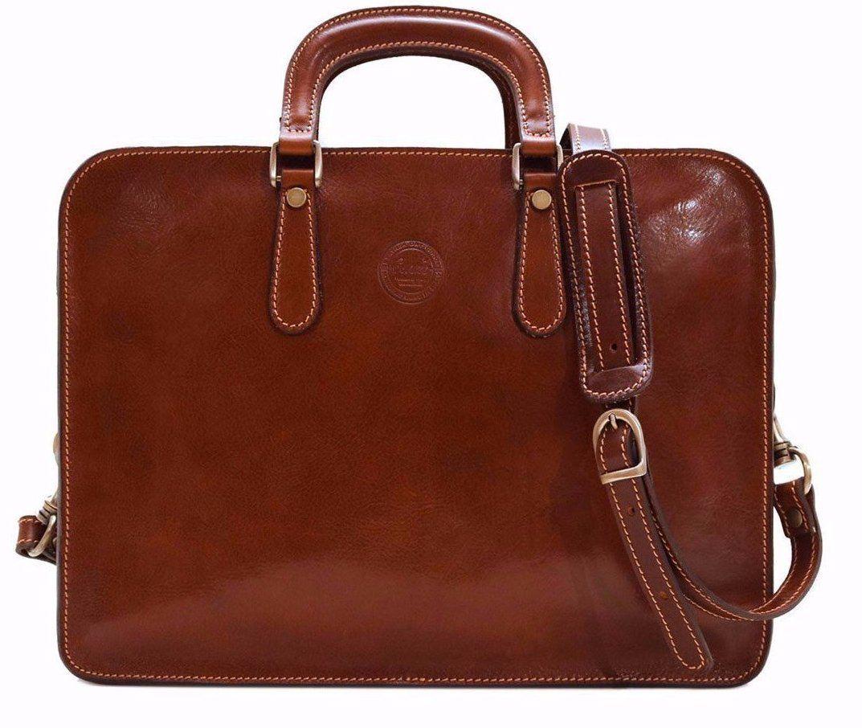 Caf/é Tuscan Leather Briefcase Color