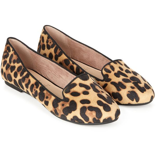 Accessorize Lexi Leopard Print Slipper (€47) ❤ liked on Polyvore