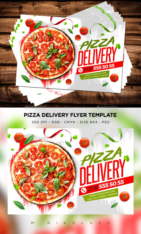 Pizza Delivery Flyer V2 \u2014 PSD Template #template #picnic \u2022 Download