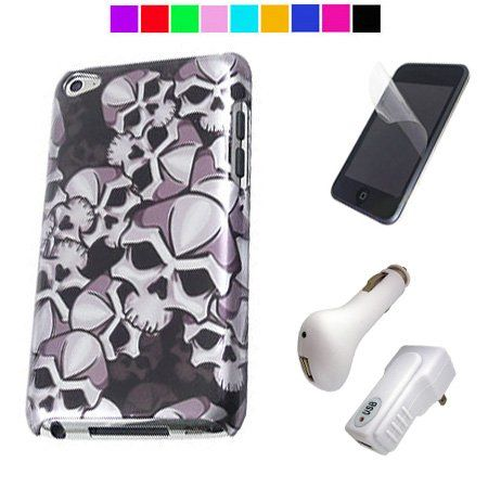 Durable Rubberized Hard Back Cover for Apple iPod Touch