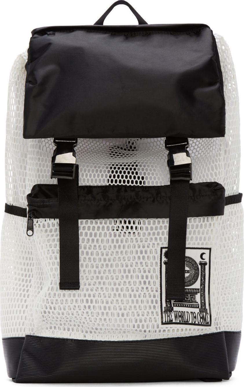 KTZ White Mesh Pluto Backpack
