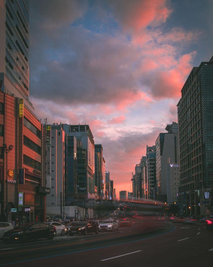 Killer sunset in Seoul South Korea [1920 x 1080]