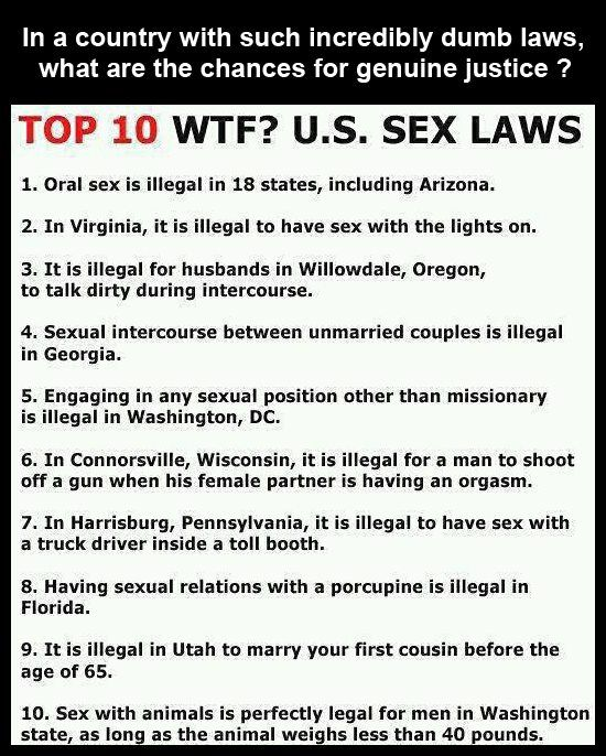 Weird sex laws in virginia
