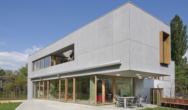Moderne fassaden einfamilienhäuser  Einfamilienhaus Blanden - Einfamilienhäuser | Façade eternit ...