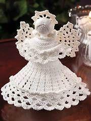 Angélico Padrão Anjo Crochet