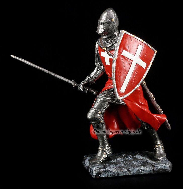ritter figur kreuzritter mit rotem umhang knight. Black Bedroom Furniture Sets. Home Design Ideas