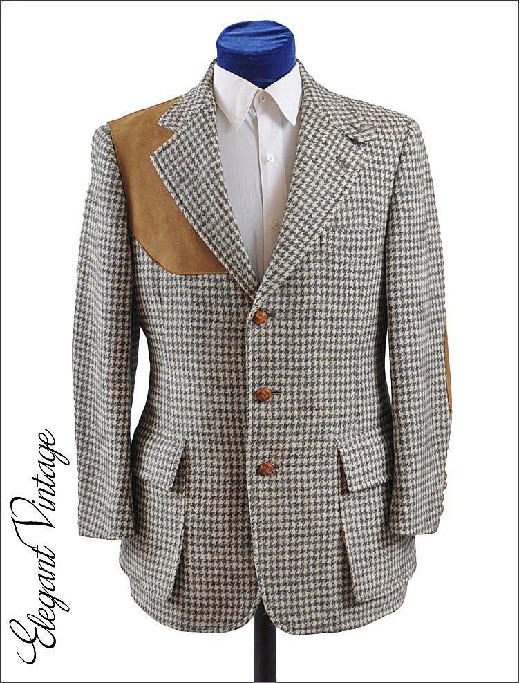 da8725e634504 60s - 70s Vintage Men's Tweed Shooting Jacket | Menswear - Fall ...