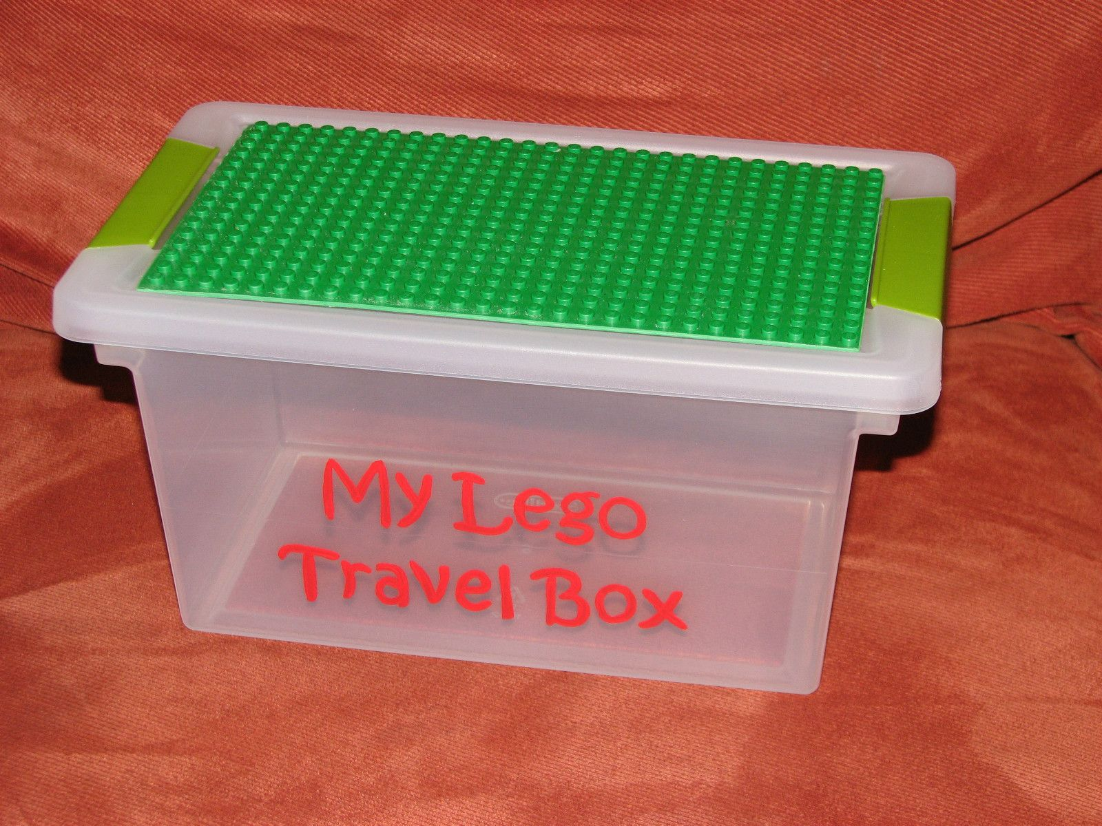 My Lego Travel Box Using Plastic Storage Bin And Lego